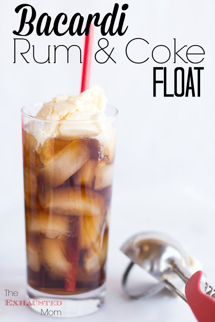Bacardi Rum & Coke Float...the adult version!