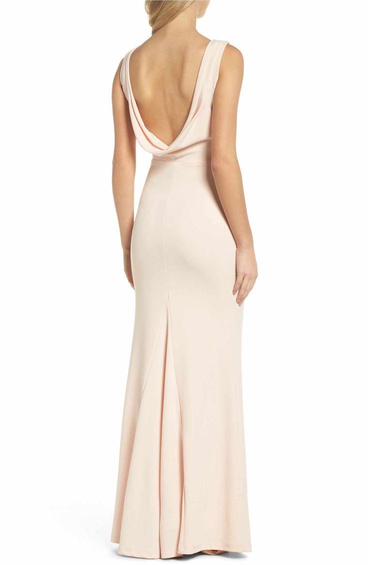 Main Image - Lulus Drape Back Trumpet Gown