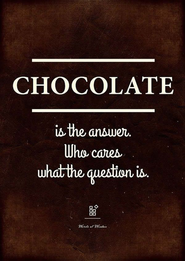 kitchen wall #decor quotes: #chocolate is the answer
