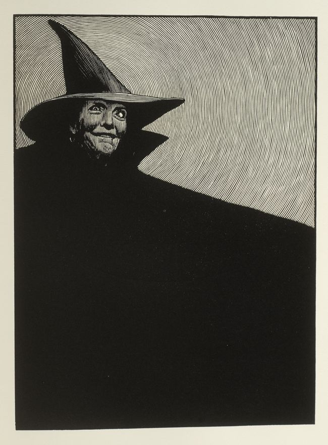 """The Wicked Witch of the West"" by Barry Moser from ""The Wizard of Oz"" by Frank L Baum:"