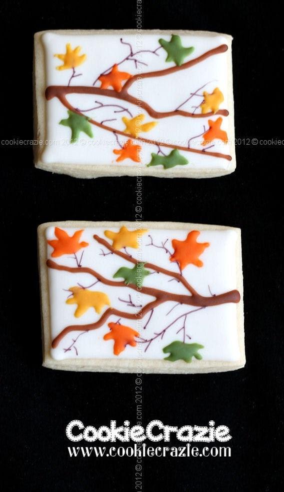 CookieCrazie: Autumn Wedding Shower Cookies