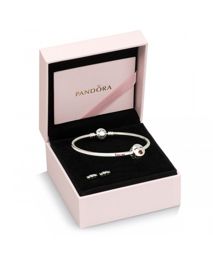 Pas Cher Pandora Kiss Me Bangle,Pandora jewelry charm 2018.