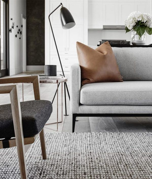 Dreamy scandinavian chic interiors with the gubi grashoppa floor lamp as the perfect reading or ambient light