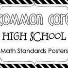 Display the math standards in style with these black and white math standards posters!  EVERY high school math standard is included from all of the...