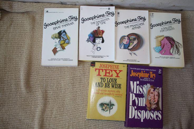 Lot of 6 JosephineTey books / Josephine Tey novels / vintage Josephine Tey by TheKindLady on Etsy
