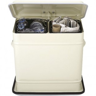 Cream Kitchen Recycling Bin