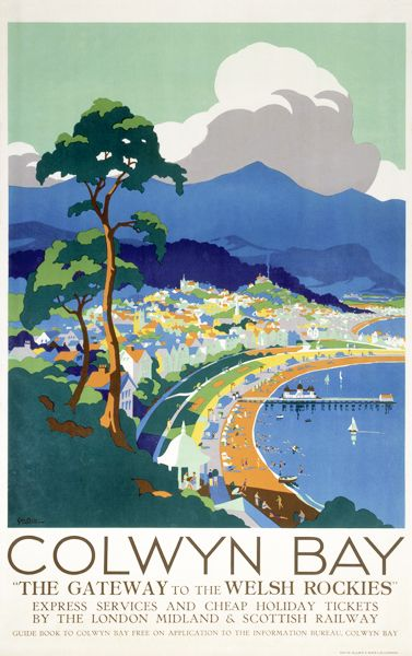 Colwyn Bay, vintage travel poster, by George, Ayling, 1932