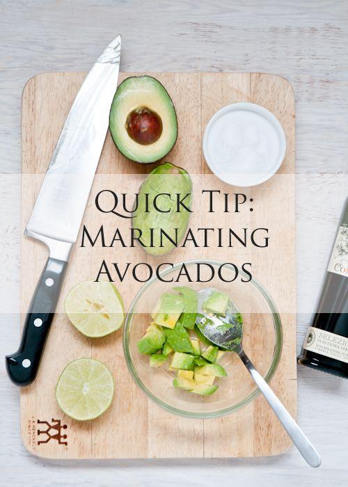 Love this > Quick Tip: Marinating Avocados