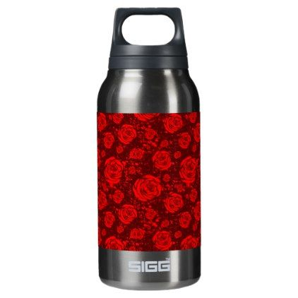 #rose insulated water bottle - #drinkware #cool #special