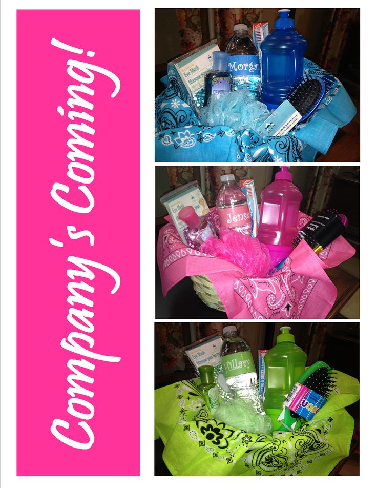 Guest Room Welcome Gift Basket