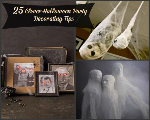 There's Halloween decorating and then there's DIY clever Halloween decorating. Hang ghostly spirits from the ceiling with cheesecloth and styrofoam heads, or give your family portraits haunted red eyes. These creepy spider pods full of skeletons and things that go bump in the night are sure to give your guests the heebie-jeebies. Before you run…