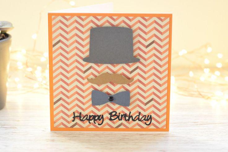 Bright male birthday card