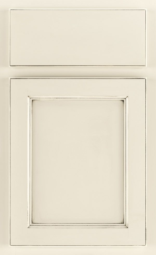 Thomasville Bruckner cabinet in Cotton with Carrera glaze. My top pick for our new kitchen cabinets!