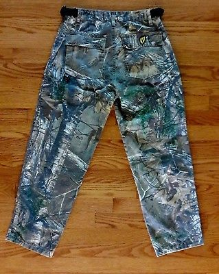 Scent Blocker Hunting Pants Real Tree Camouflage ~ Youth size XL W28 x L26.5