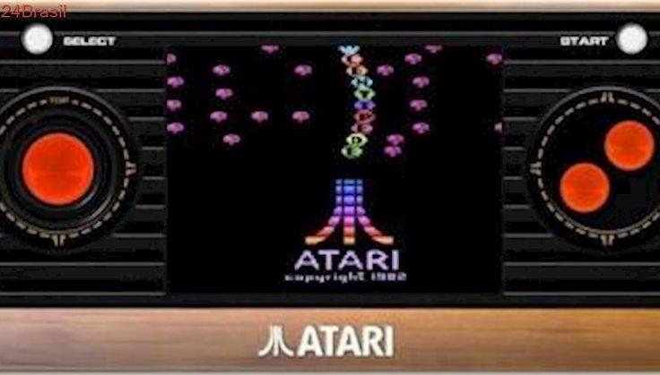 Atari portátil vem com 50 games clássicos na memória e pode ser ligado à TV