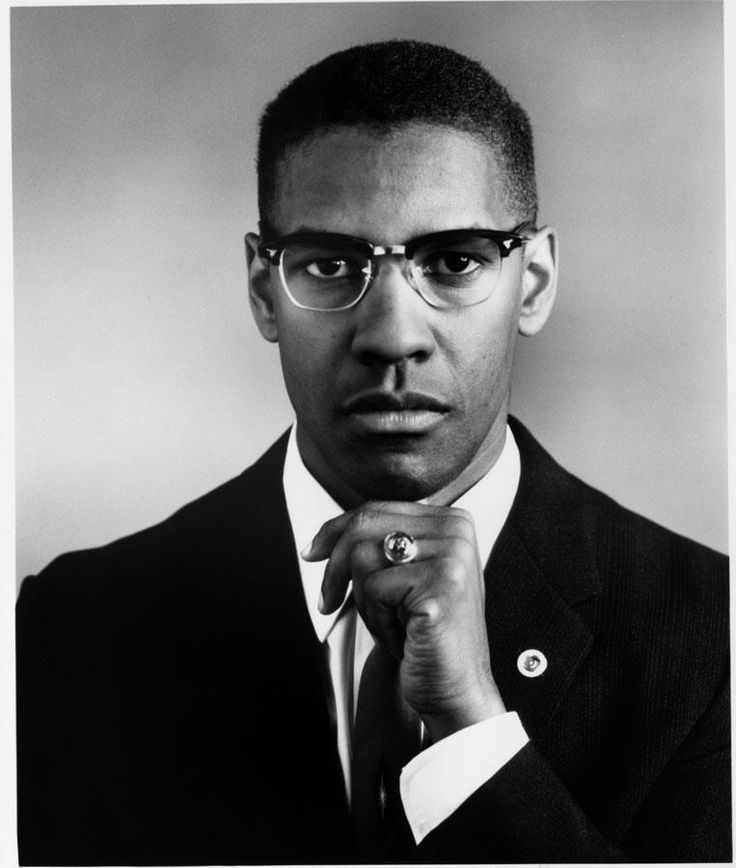 Denzel Washington as Malcolm X from the movie directed by Spike Lee