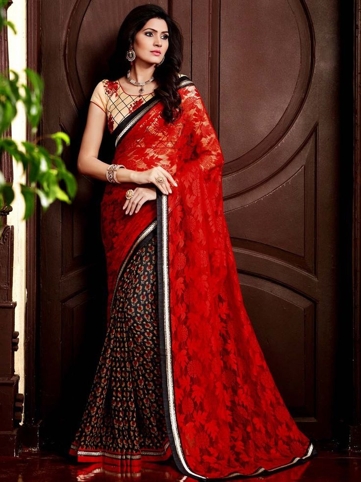 Dazzling outfit is bringing joy and new mood for you in this season.  Item Code:SDH1733 http://www.bharatplaza.com/new-arrivals/sarees.html