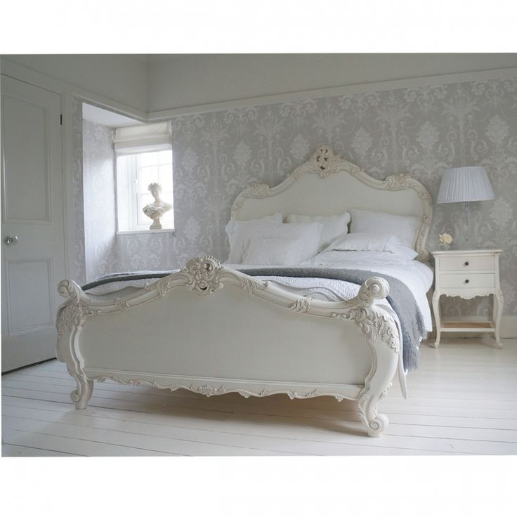 Wonderful Go For Grandeur And Grown Up Feminity   Our Provencal Sassy White French Bed  Is A
