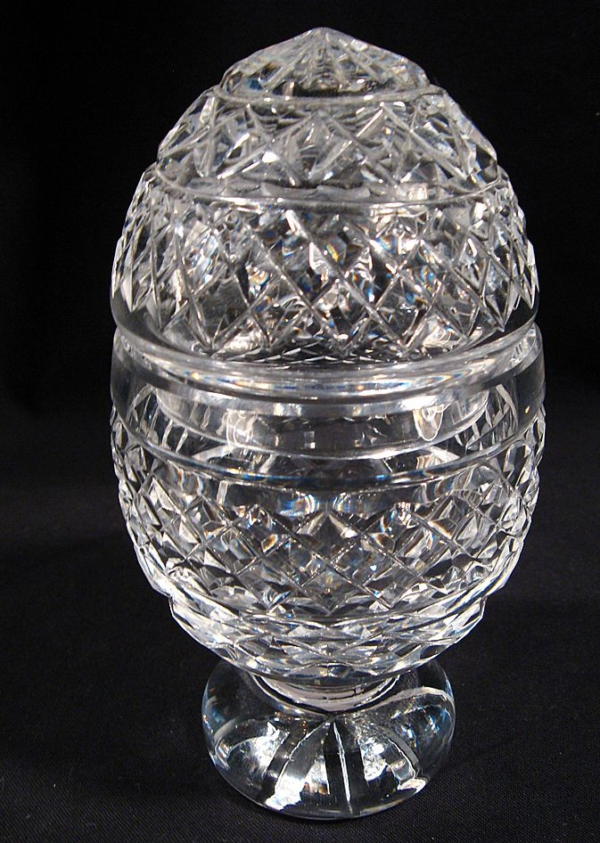 Waterford crystal footed egg