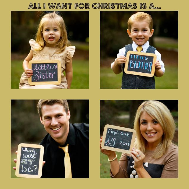 Pregnancy Announcement Third Baby Announcement Christmas – Cute Christmas Baby Announcements
