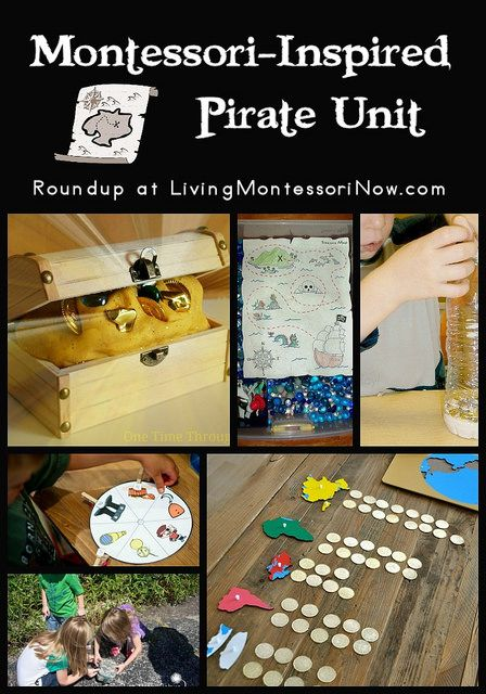 Roundup of free pirate printables and lots of Montessori-inspired pirate activities
