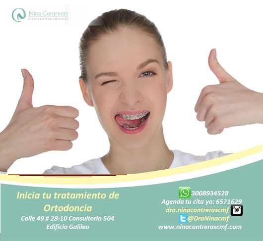 Queremos formar parte de tu sonrisa! No lo pienses mas. Inicia tu tratamiento de ortodoncia, atrévete a generar cambios! Excelentes planes y descuentos. Agenda tu cita ya: 6571629 - WhatsApp: 3008934528 http://ninacontrerascmf.com/location/