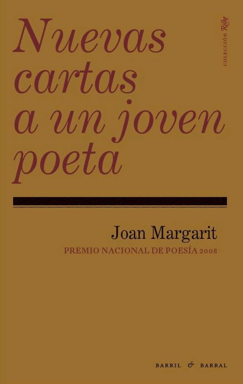 Joan Margarit | Nuevas cartas a un joven poeta
