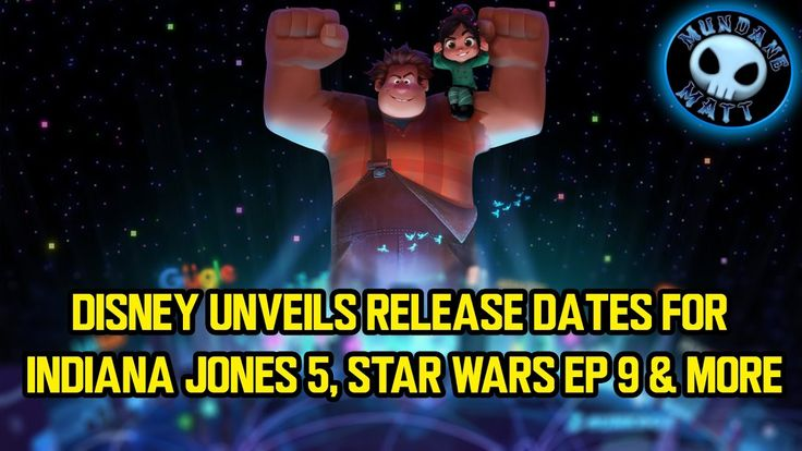 Disney unveils release dates for INDIANA JONES 5, STAR WARS EP 9 & more
