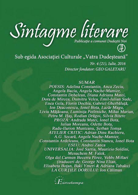 ARHIVE LITERARE: Geo Galetaru ne propune: Sintagme literare nr. 4/2...