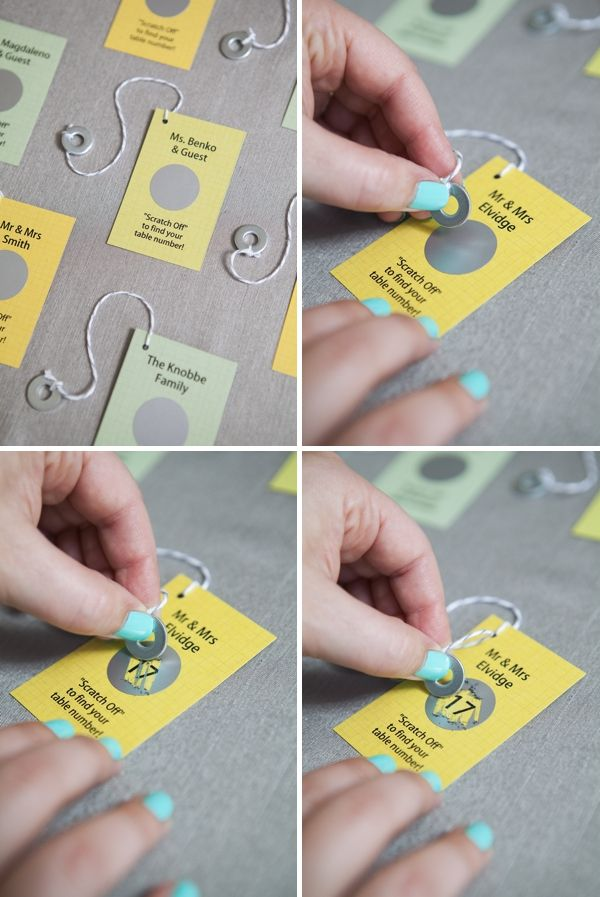 DIY Wedding // give your guests a little thrill with these easy to make 'scratcher escort cards'!