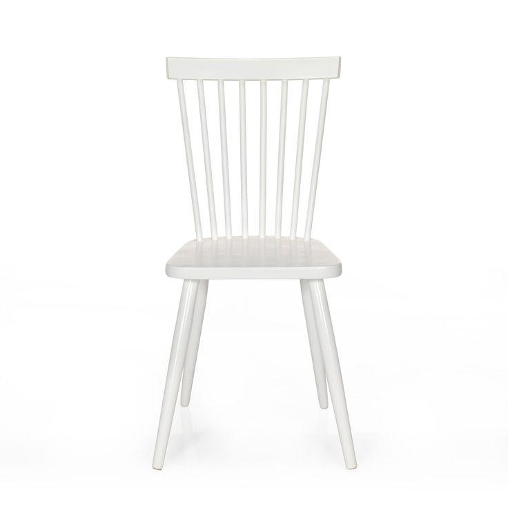 chaise vintage blanche blanc cleo chaises tables et chaises salon et salle manger. Black Bedroom Furniture Sets. Home Design Ideas