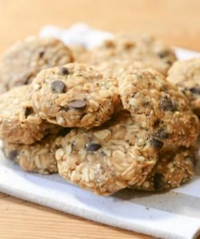 Nut Butter Breakfast Cookies with Holy Crap Cereal