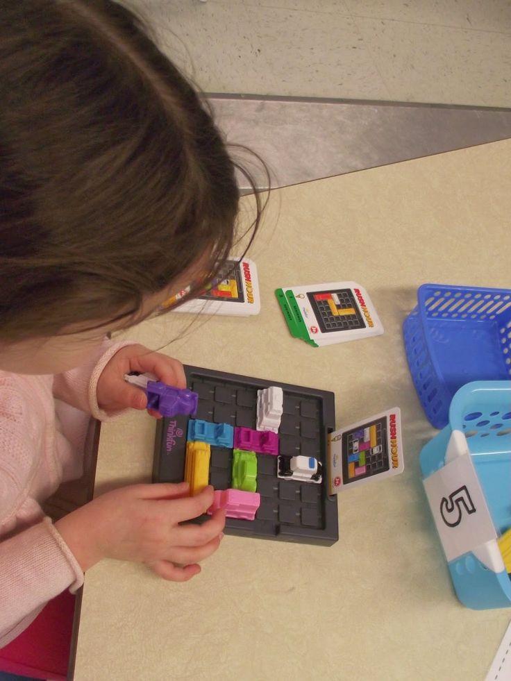 """Je travaille ma logique avec le jeu de logique """"Rush Hour Jr"""" La maternelle de Francesca: Nos petits ateliers #5"""