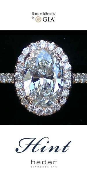 Oval Diamond Halo Engagement Rings by HadarDiamonds.com .  Custom made with love in Southern California.  Inquire for pricing and experience lavish quality at a sensible price.  Click to view actual video.