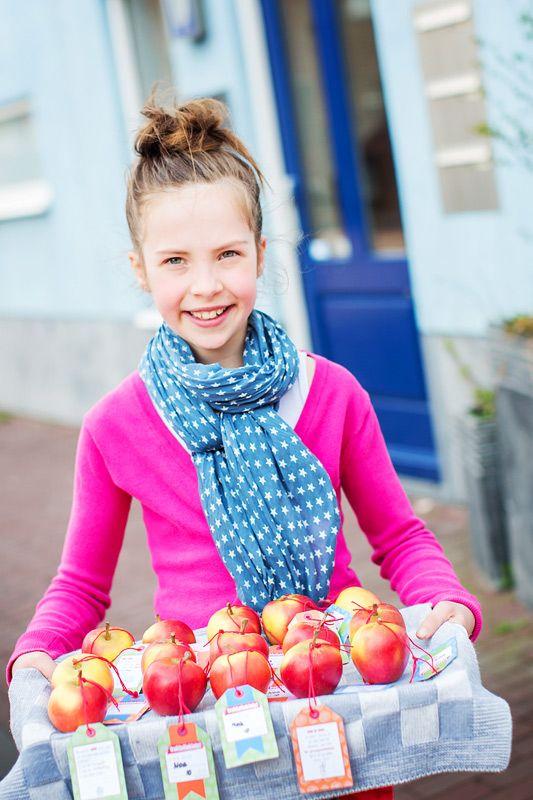 Traktatieklets! appels (by Eef Ouwehand) gezinnig.nl