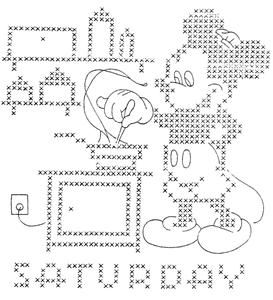 Hand Embroidery Pattern 796 Mickey Minnie Mouse for Days of The Week Towels 40s | eBay