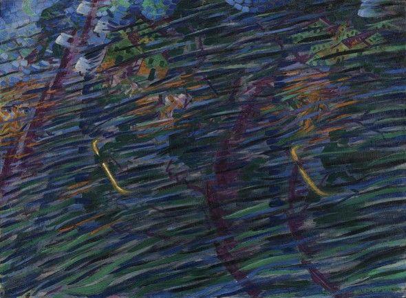 Umberto Boccioni: Stati d'animo. Quelli che vanno, 1911 Milano, Museo del Novecento © Comune di Milano, tutti i diritti di legge riservati