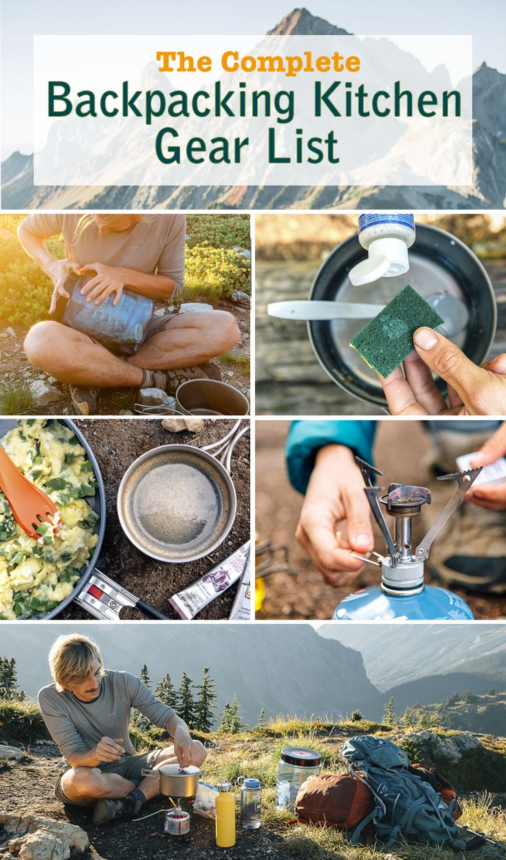 Before your next backpacking trip, check out this complete backpacking gear list. #backpacking #camping #cooking