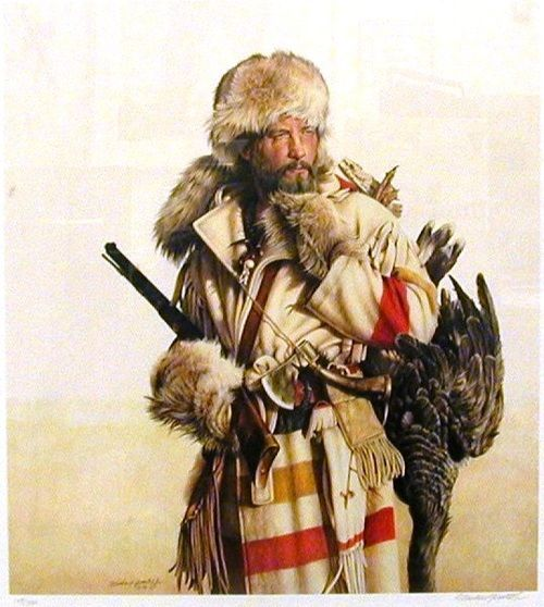 Métis Voyageur with Hudson's Bay Blanket coat, date and artist unknown.
