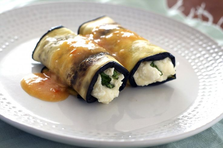 cheesy eggplant roll ups; this one was recommended by one of my daughters--she says it's delicious.