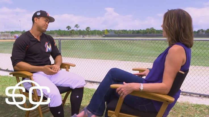 Giancarlo Stanton Interview With Hannah Storm | SportsCenter | March 31, 2017 - YouTube