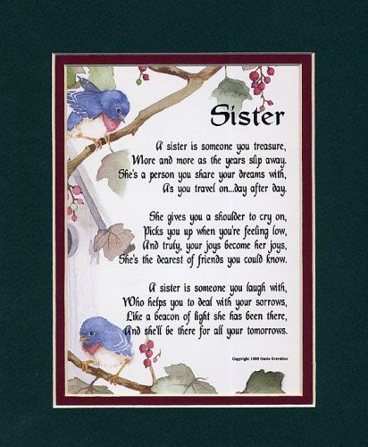 poems for sisters at heart | found on bestmothersdayever com