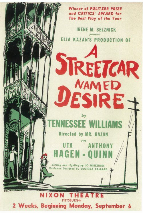 a streetcar named desire tennessee williams s A streetcar named desire, which is celebrating the 70th anniversary of its dec   the tennessee williams play became a hit on broadway, on the road,  only  for top writer-directors like george s kaufman and moss hart.
