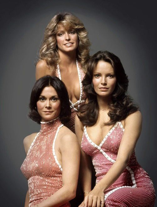 THE CLASSIC BEAUTIFUL HOLLYWOOD STARS - CHARLIES ANGELS - THE ORIGINAL GROUP
