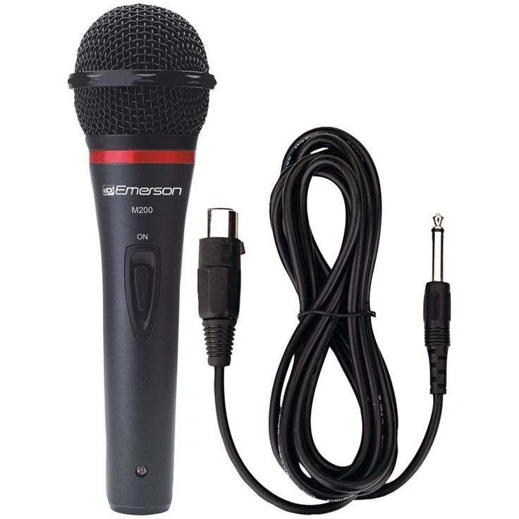 KARAOKE USA M200 Professional Microphone with Durable Metal Case & Grille