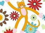 XOXOXO, The Cat: Orange Cats, Fabric, Xoxoxo