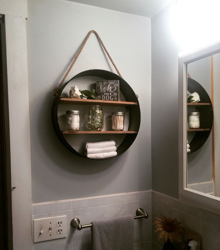 Rustic bathroom shelf from hobby lobby in love my for Bathroom room accessories