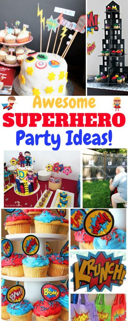 Ideas for a Superhero Party! Amazing Ideas for a Superhero Themed Party! #kidsbirthdayparties #birthdayparty #superheroparty #Superherocraft #superhero #kidsparty #partyideas #partydecor #partyfood #partydecorations