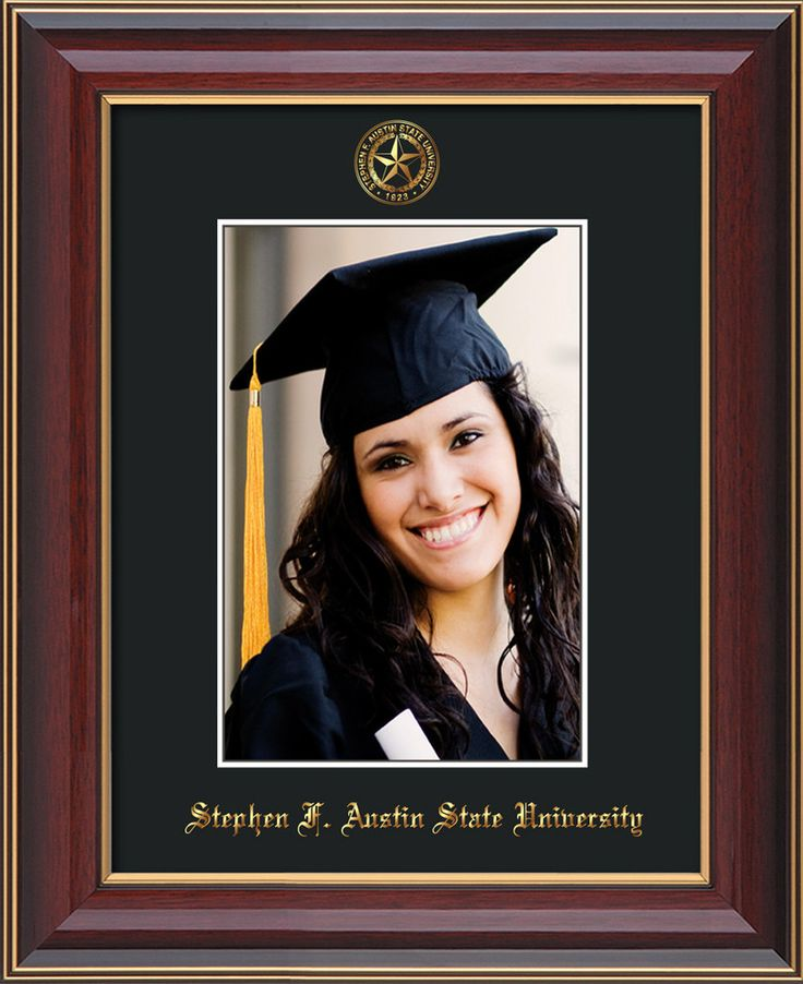 Stephen F Austin State 5 x 7 Cherry Lacquer photo frame w/black mat. – Professional Framing Company