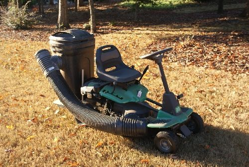 A Grass Leaf Catcher For Your Riding Mower Pictures Of
